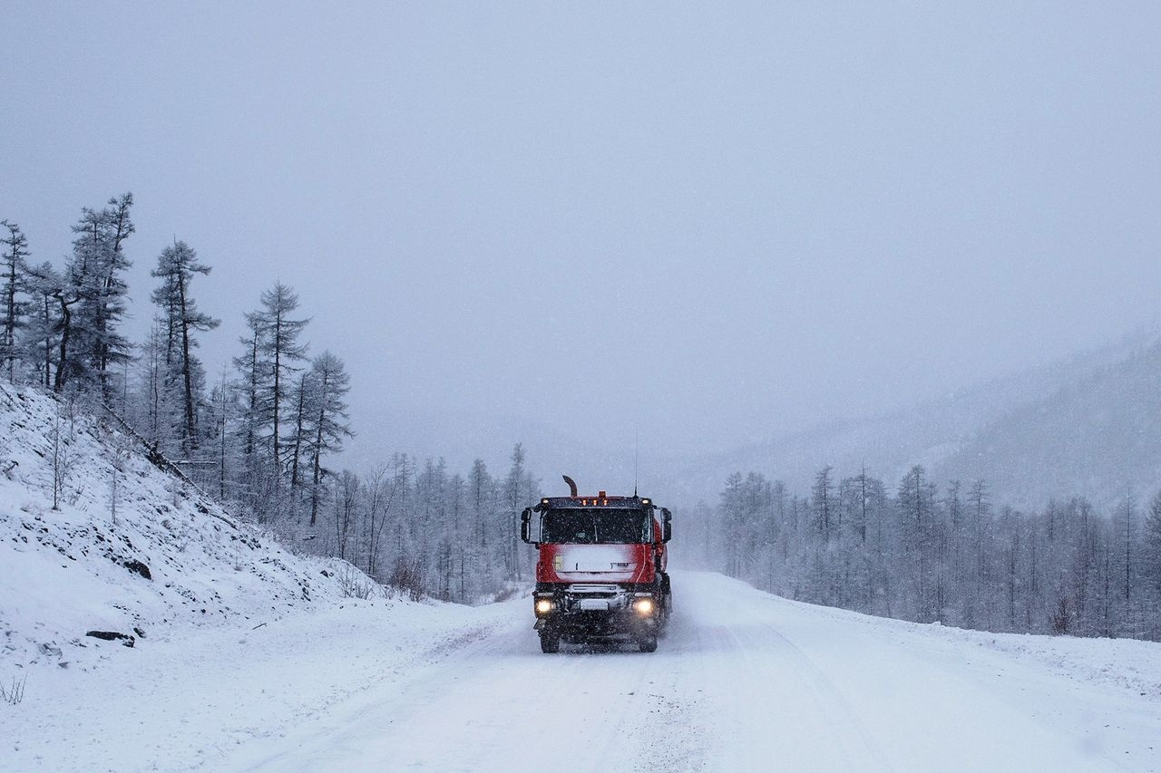Колымская трасса. Фото Эмиля Дукке.