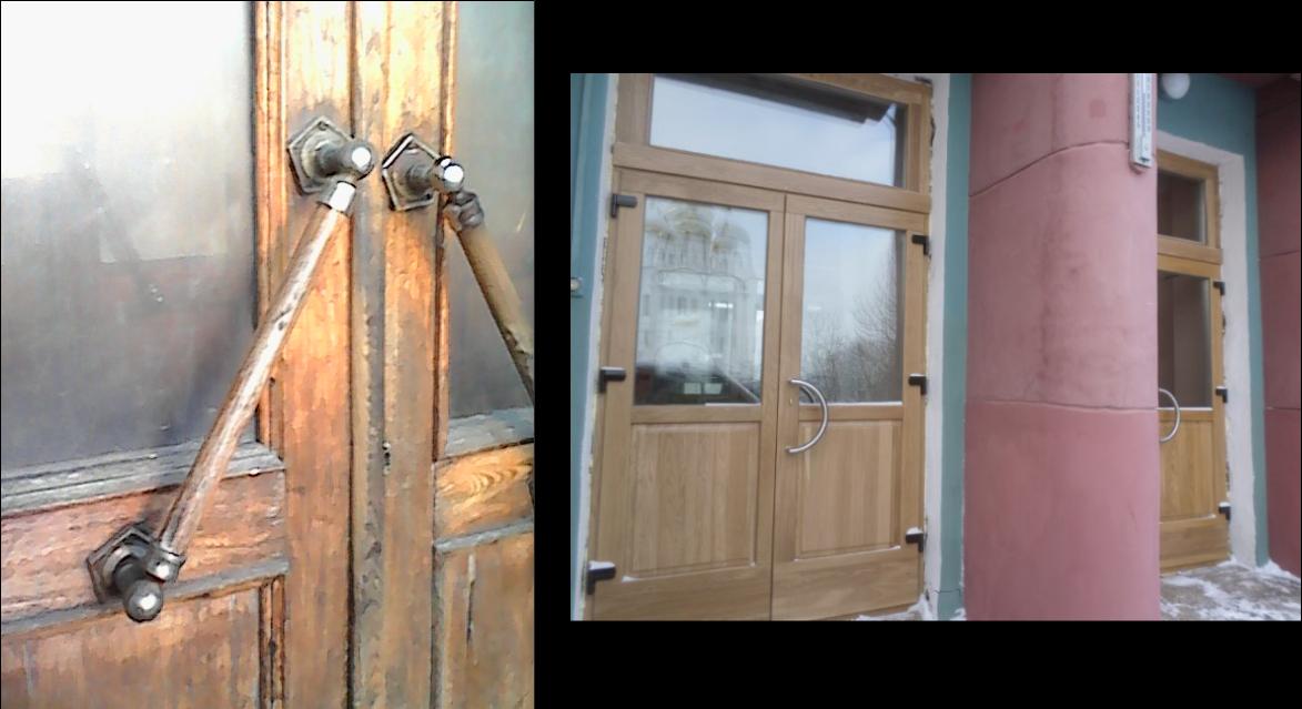 Двери старые и новые. Фото Р. Кауцмана.