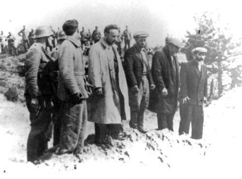 Шауляй в период немецкой оккупации. Перед расстрелом.