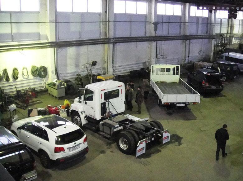 Производственная база станции.