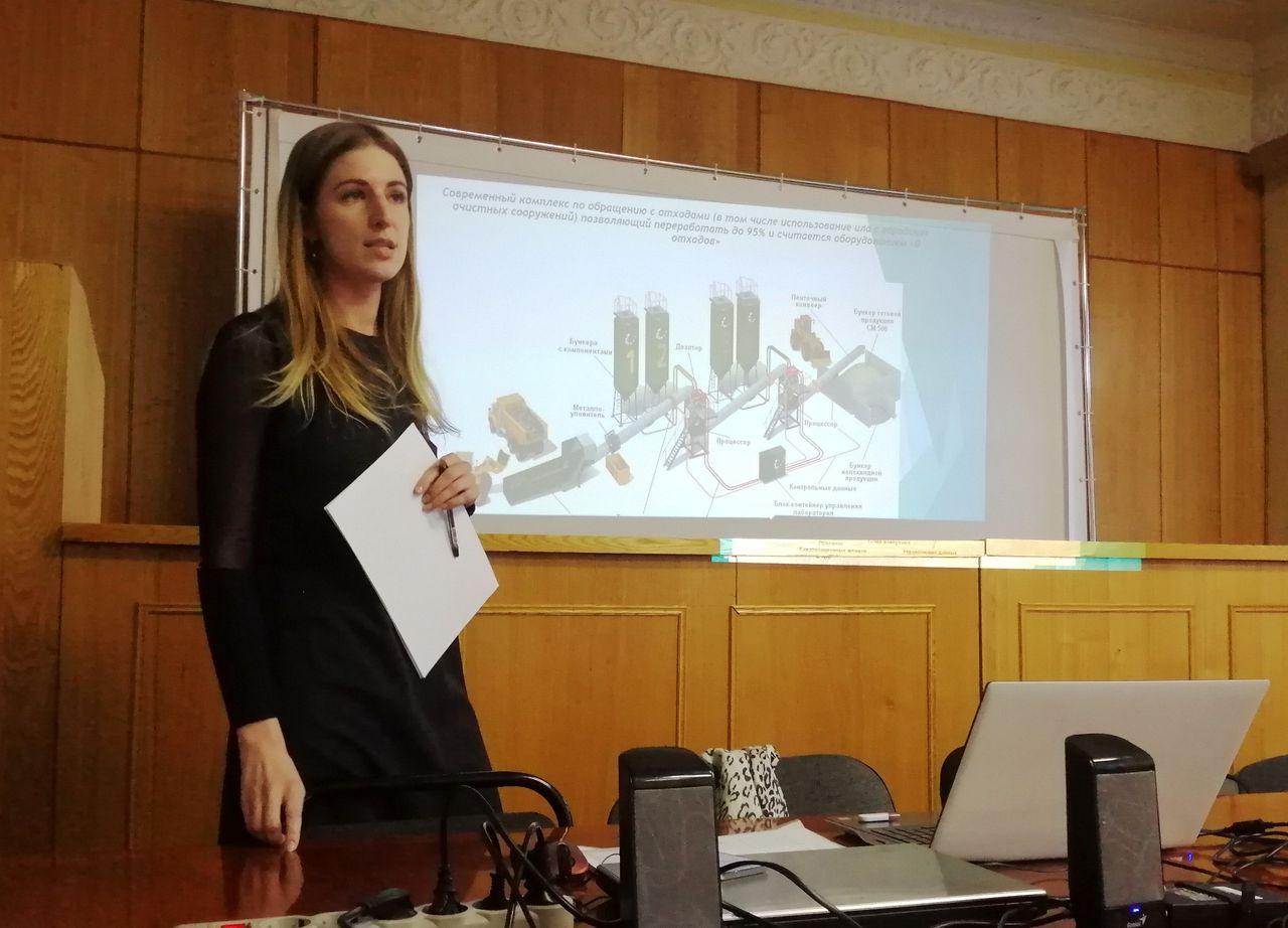 Анна Ткачева представляет проект строительства межмуниципального комплекса. Ола, 28.01.2020 года.
