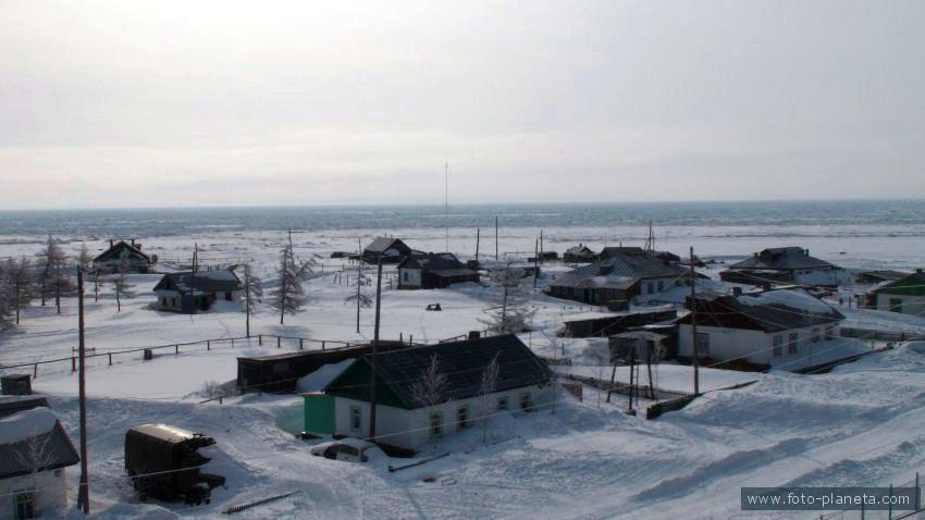 Зима в Тахтоямске.