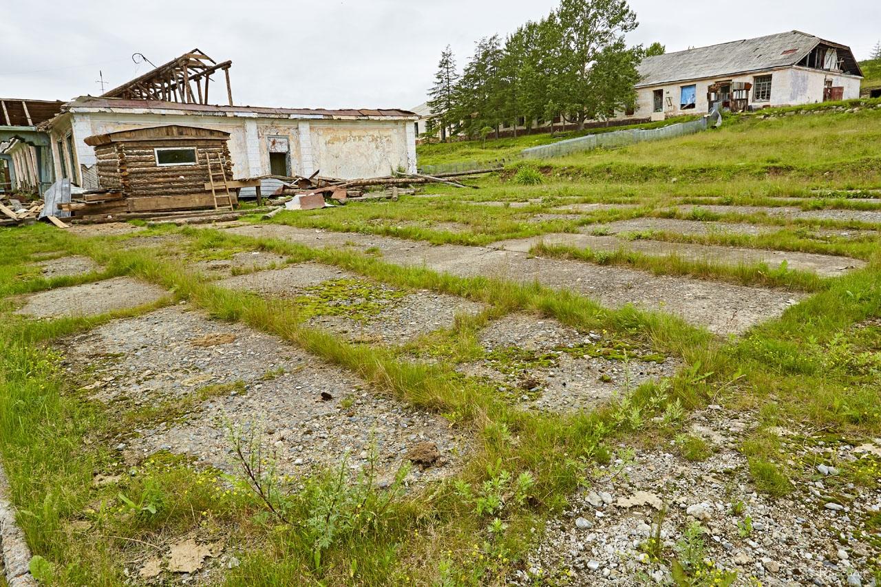 Плац у казармы 749 отдела тыла ТОФ.