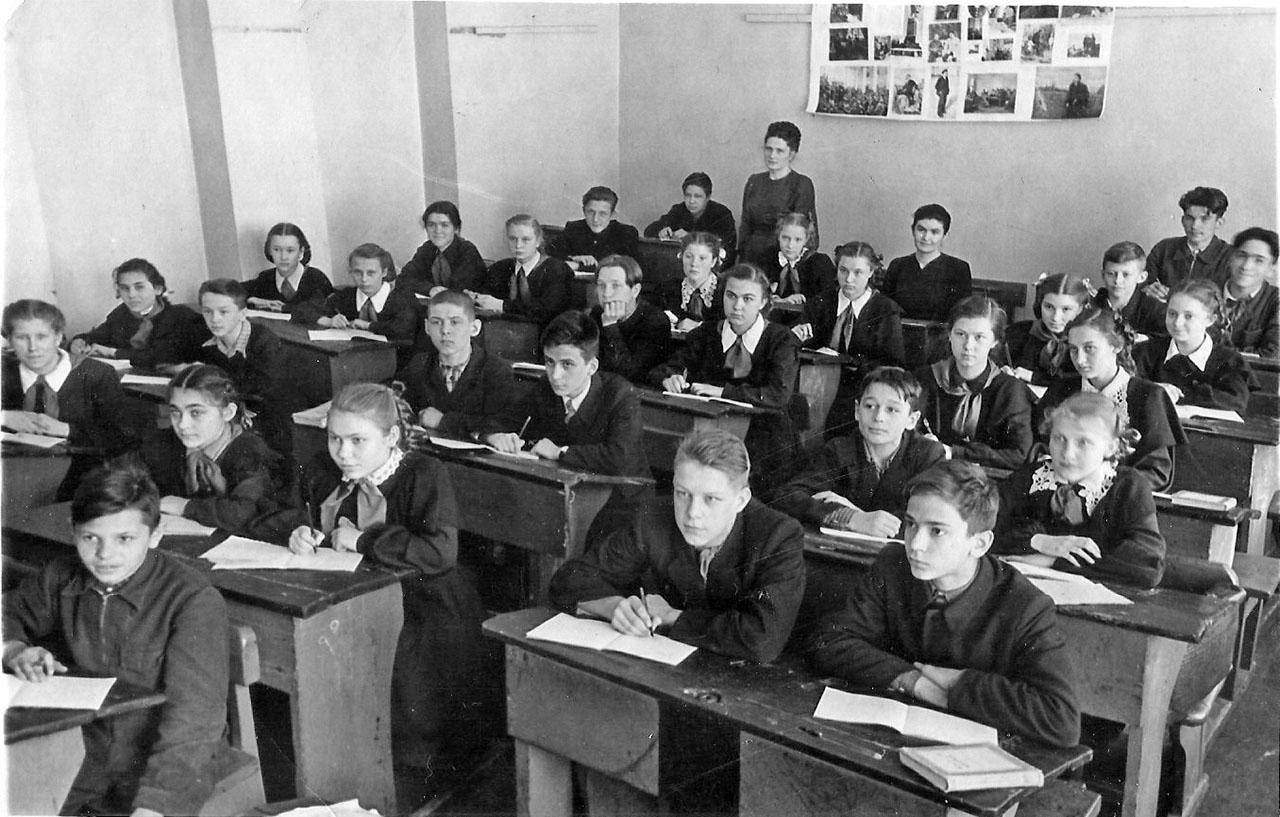 7-Б класс, 1955 год.