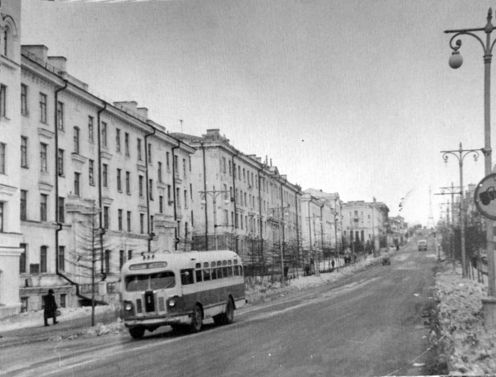 Город Магадан. Конец 50-х годов ХХ-го века. Из архива Черенкова И. Е..