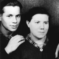 Леонтьев с Тамарой Федоровной Леонтьевой.