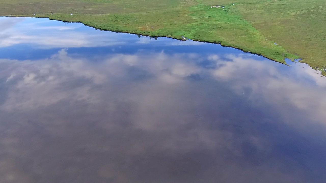 Озеро Майорыч. Вид с дрона.