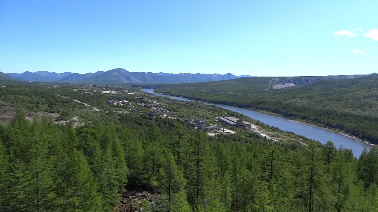 Вид на посёлок Синегорье.