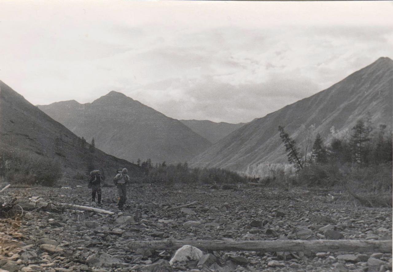 На подходе к оловодобывающему руднику Светлый. 1977 год.