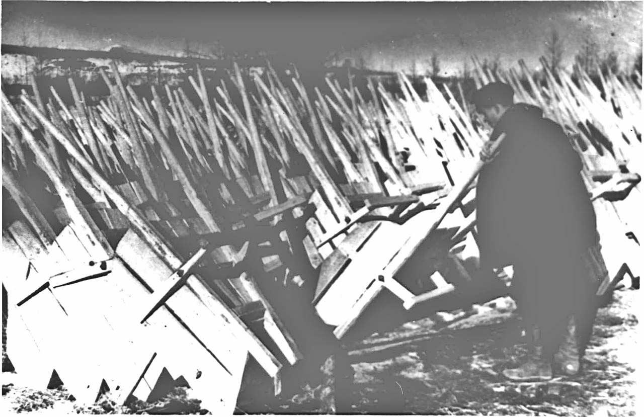 Склад тачек. Прииск «Штурмовой». 1938 год.