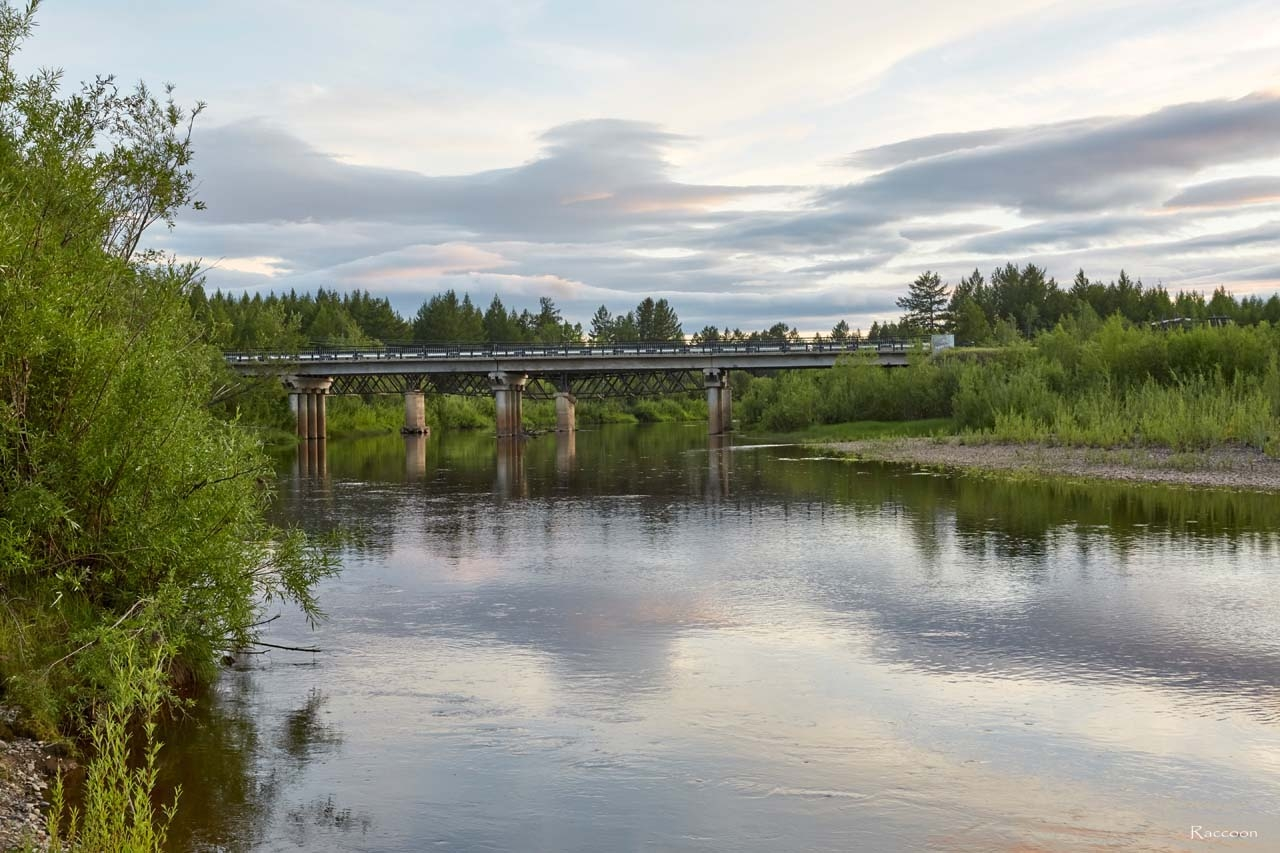 Мост через реку Эльген.