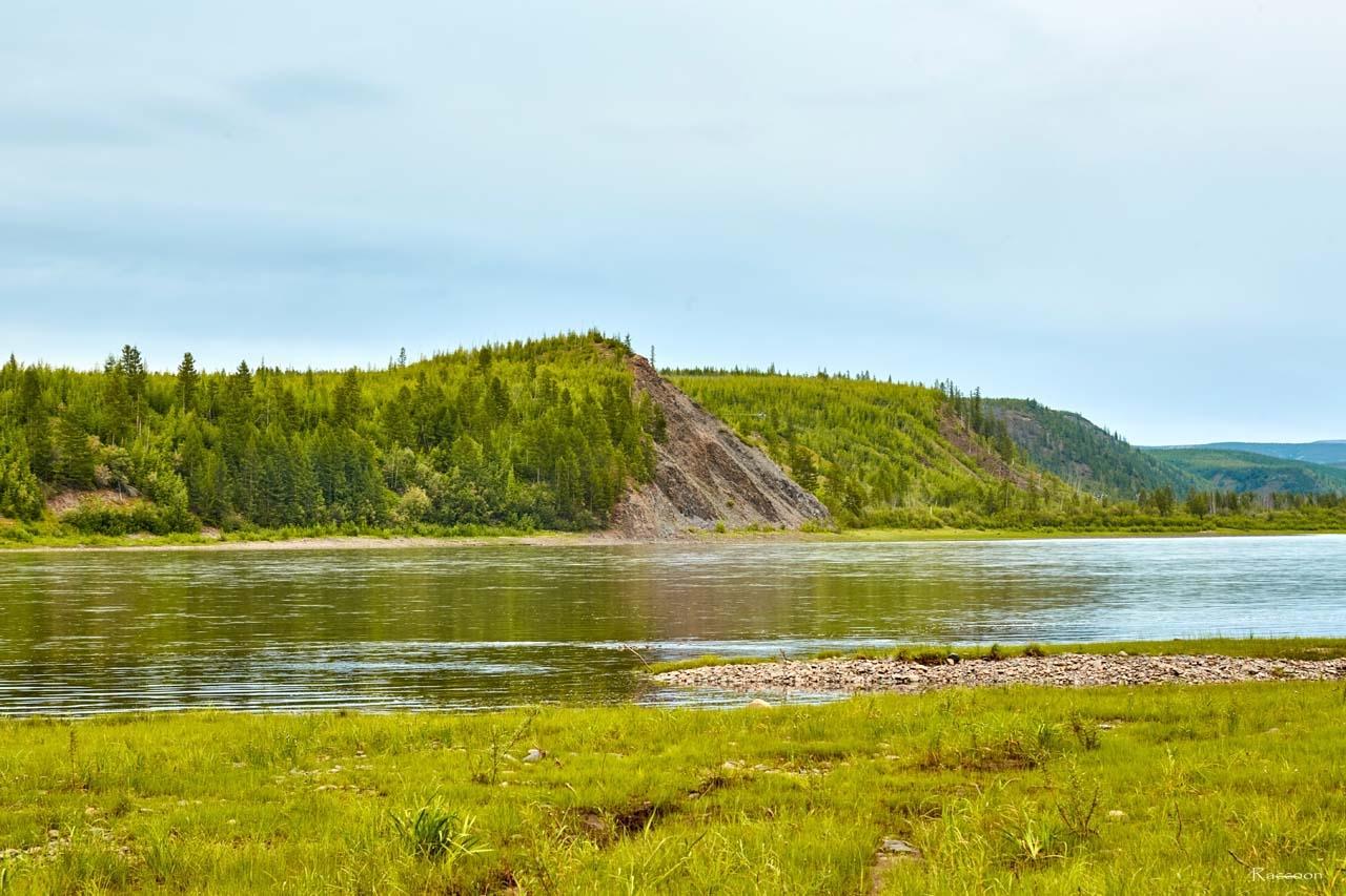 Пейзажи реки Колымы.