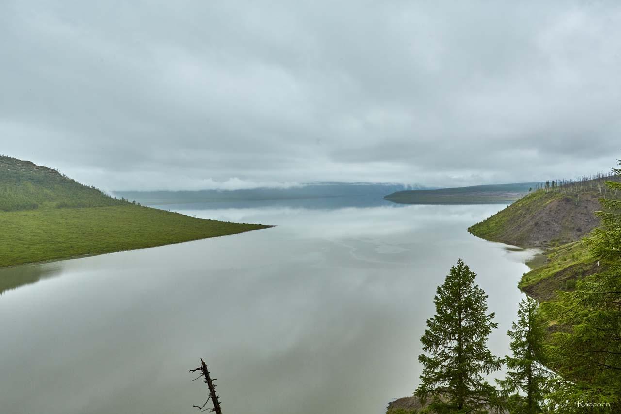 Водохранилище Усть-Среднеканской ГЭС. 2017 год.