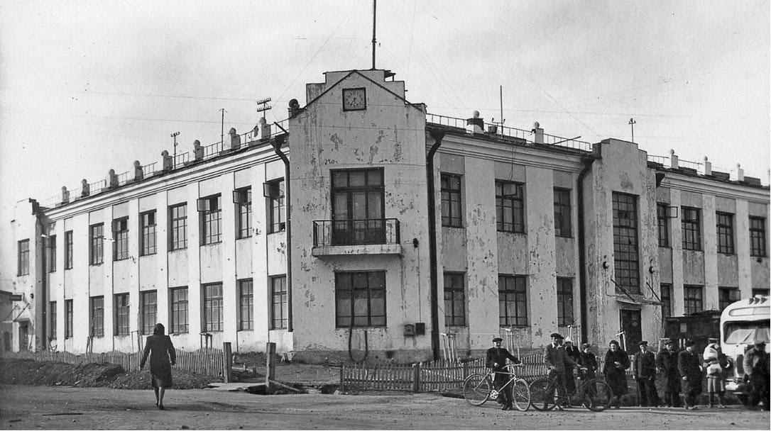 Первое здание телеграфа в Магадане, снесено в 2000 году.