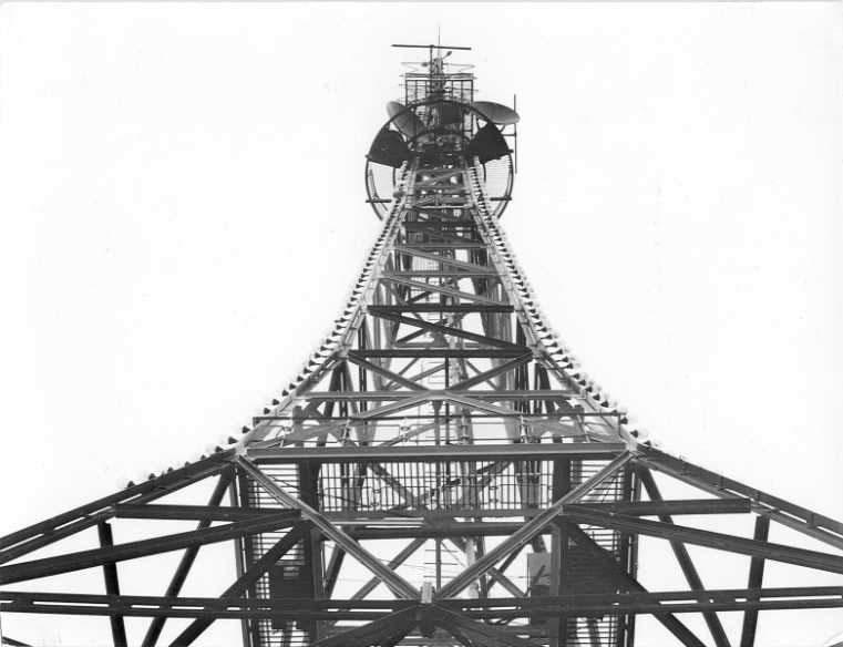 Магаданская телевизионная вышка, в настоящее время памятник..