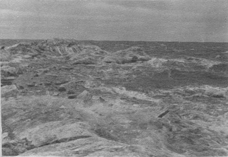 Шторм в Полярном море. разрушение стамухи. 1933 год.