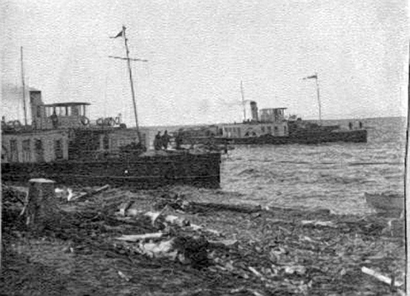 Суда Лено-Колымской экспедиции прибыли в бухту Амбарчик. 1933 год.