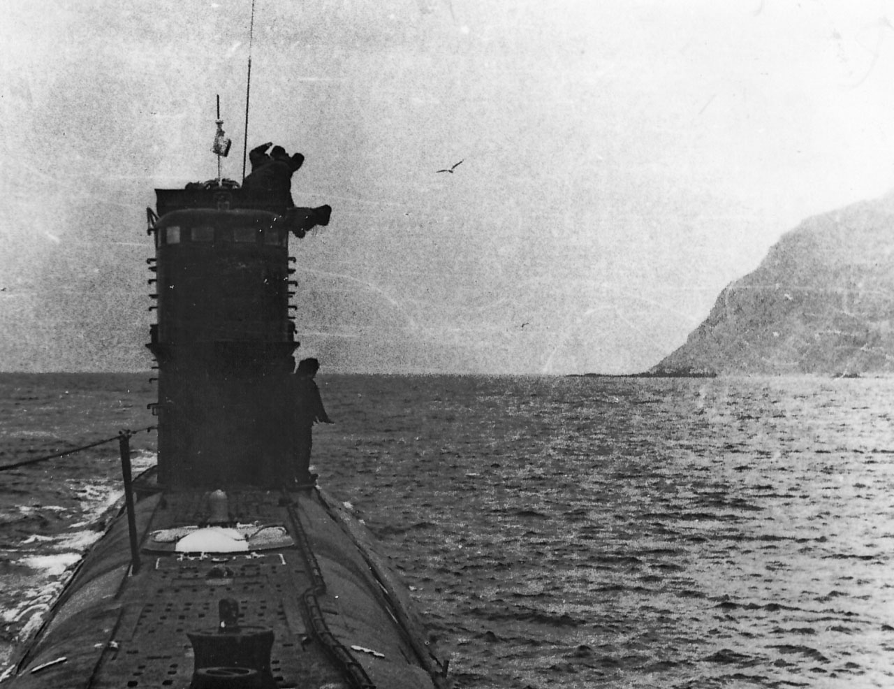 Подводная лодка С-176 снова возле входа в бухту Броутона. Другое время (1983), другой командир. В этот раз рисковать не стали, в кратер не заходили