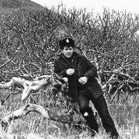 Исследуем остров Симушир. Середина июня 1981 г. На этой стороне еще нет листьев - холодно.