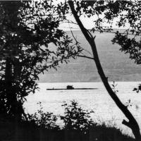 Подводная лодка в бухте Нагаева, лето 1981 г.