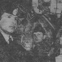 Мичман А. Кибик на боевом посту.