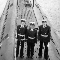 С-198. На день ВМФ в Магадане. 1983-й год.