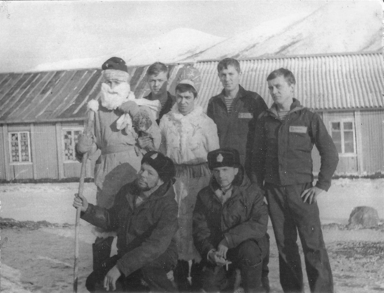 Экипаж С-221. зимовка на Симушире. Новый 1981-1982 год.