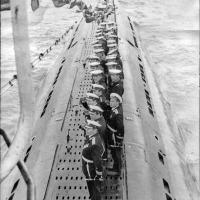 С-263. На рейде в бухте Нагаева в день военно-морского флота 26 июля 1971года.