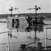 Советская гавань. Док матки, где С-263 стояла в ремонте.