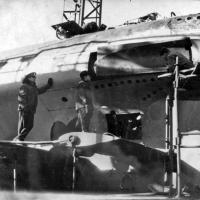 С-263. В доке во время установления волнореза. 1971 год. Советская Гавань.