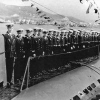 День Военно-Морского Флота на реке Большой Яломан. Пл С-286 командир Брыскин В.В., старпом Зайдулин Д.И. 1962 год.