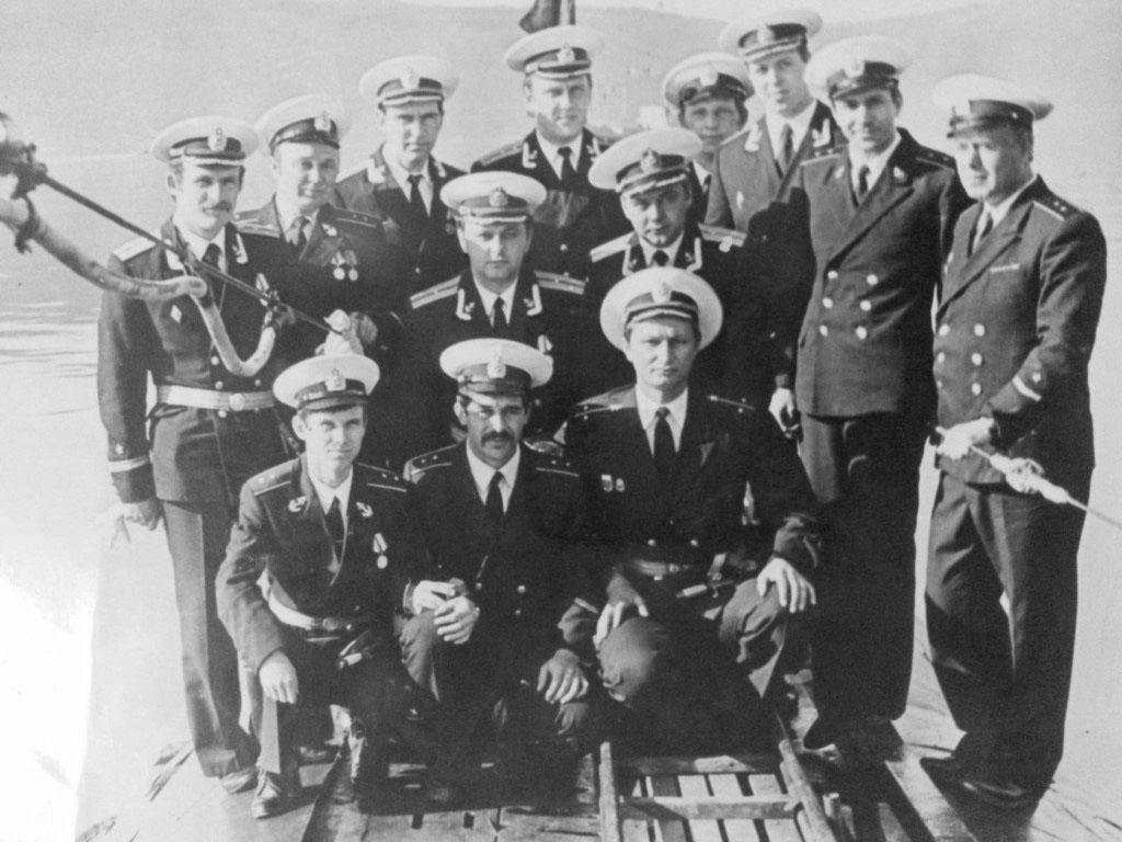 С-286. Наш экипаж, день ВМФ. 1980 год.