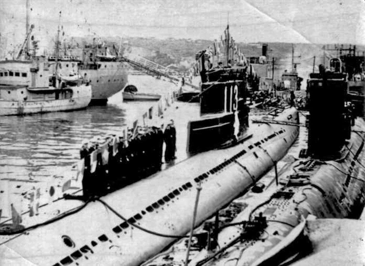 С-286. Магадан. День ВМФ. 1968 год.