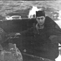 Виктор Ряховский на мостике С-288. Из архива Виктора Ряховского.