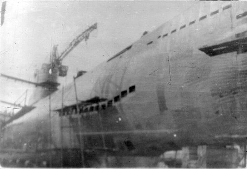 С-288. В доке п. Бяудэ Советская Гавань 1976 год лето.