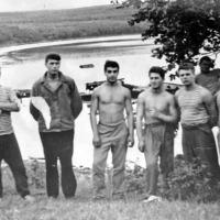 Экипаж С-365 в Советской Гавани. Игонин В., Умнов, Мясин Юрий, Горшков А., и Кельп Валерий.