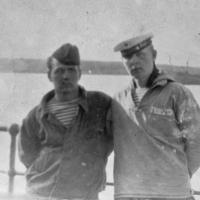 Экипаж С-365. Кельп Валерий и Улитенко Николай (из посёлка Ерофей Павлович) , р/сигнальщик. 1968 год.