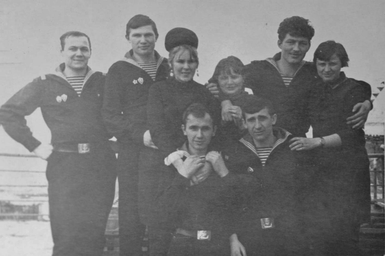 На плавбазе «Север» с шефами. 1969 год
