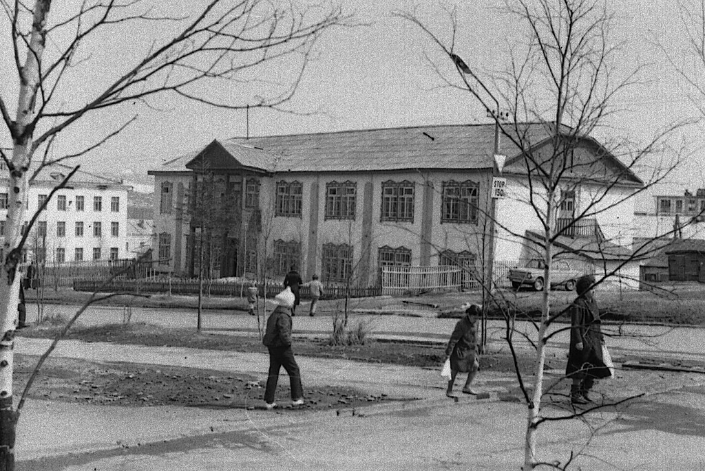Здание музыкальной школы на улице Парковой.