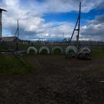 Село Гижига. Игровая площадка школы-интерната