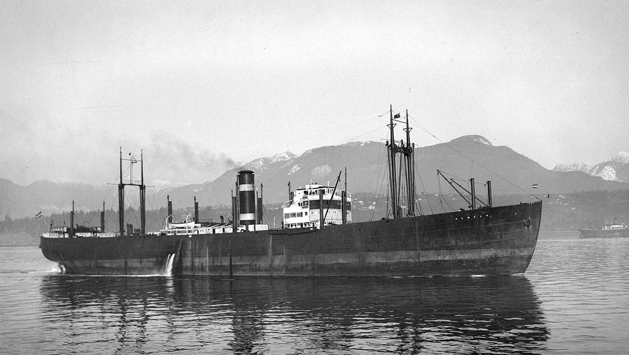 Пароход «Almelo» («Дальстрой»). 1934 год.