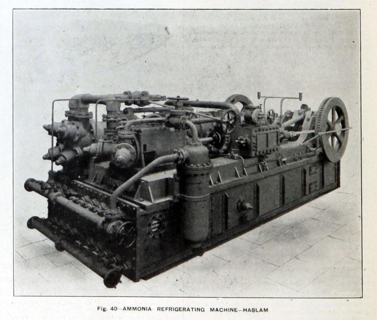 Аммиачная холодильная установка фирмы «Haslam Foundry & Engine Co». 1907 год.