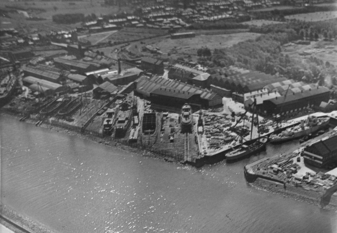 Верфь «Clyde SB. & Engineering Co., Ltd», порт Глазго (Англия). 1914-1918 года.