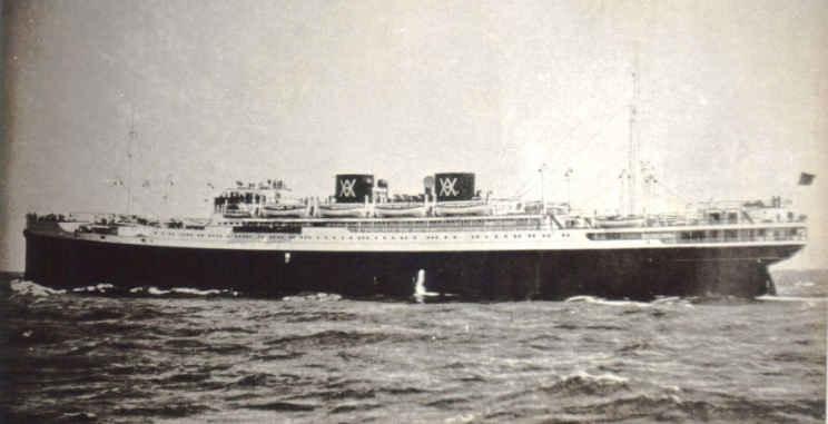 Испанский теплоход «Cabo San Agustin» 1931 года постройки, он же «Днепр».