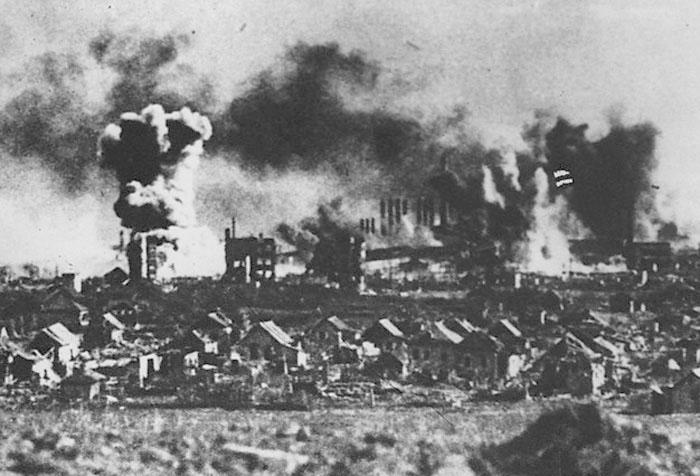 Бомбардировка Сталинграда.
