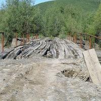 Аннушка. Мост перед небольшим перевалом, за которым был поселок Аннушка