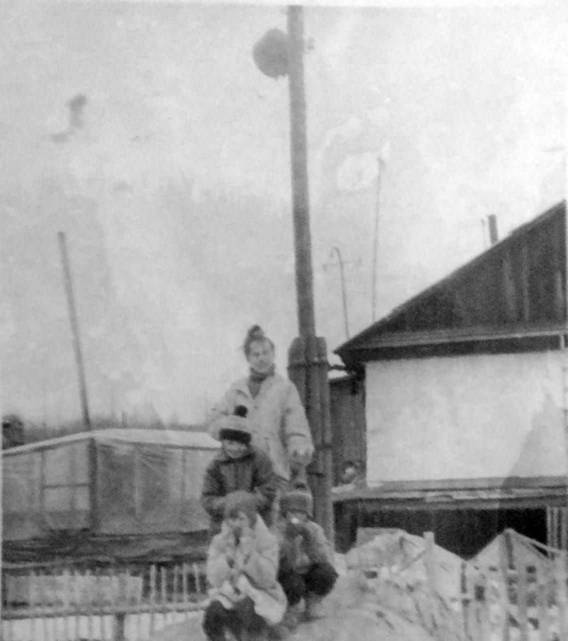 Посёлок Горняцкий. На заднем плане видна теплица возле дома. Фото от Юлии Ильиной.