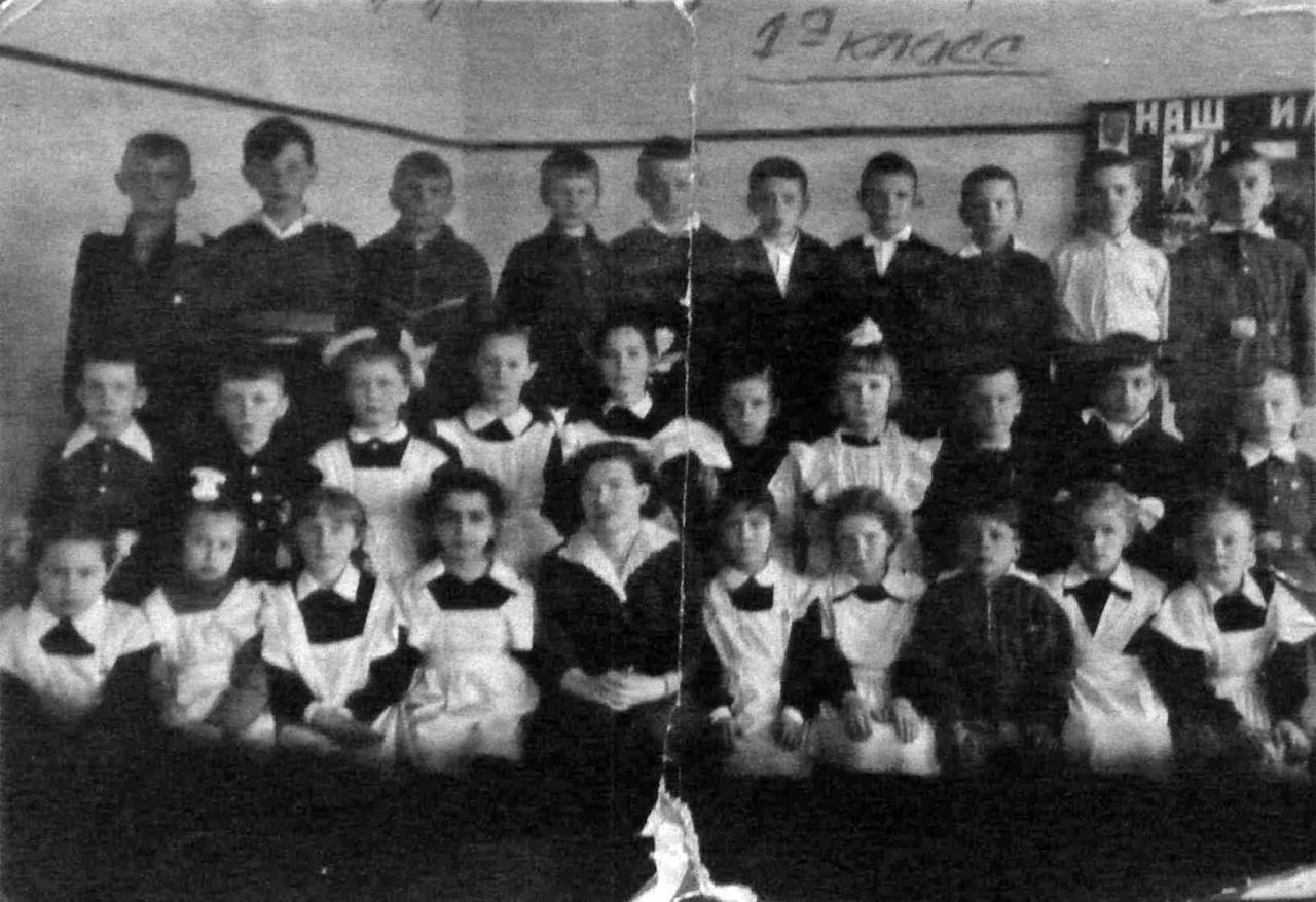 Школа посёлка Мяунджа, 1 а класс. 1963 год.