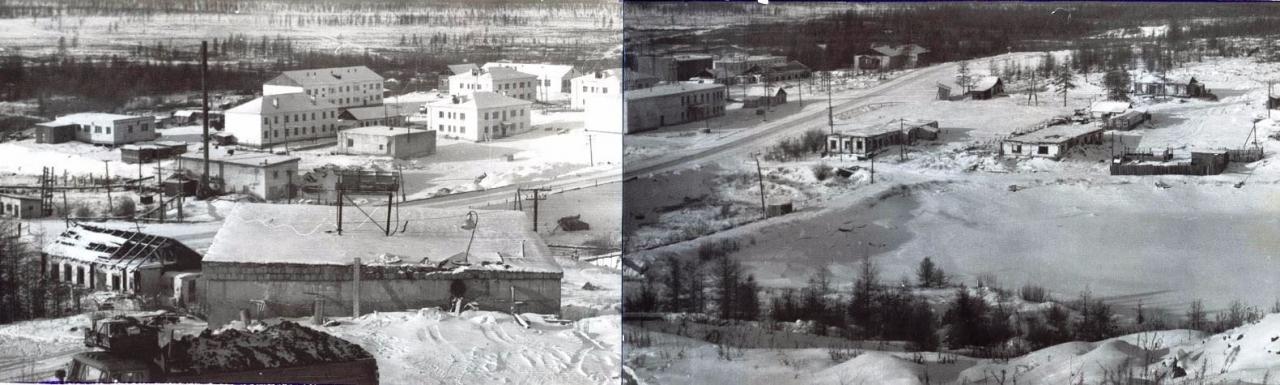 Каменистый. Панорама посёлка. Октябрь 1994 года.