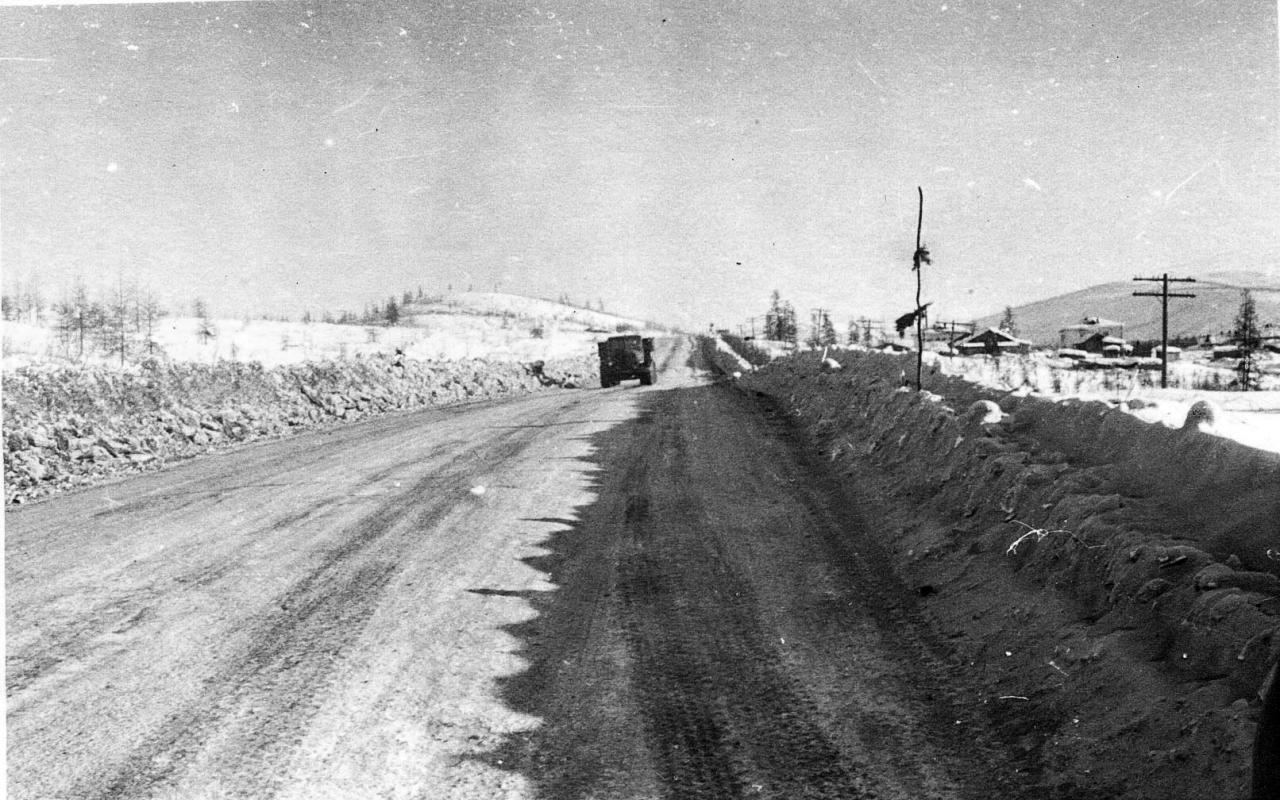 Каменистый. Дорога на посёлок со стороны Мяунджы.